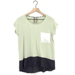 Anthropologie Dolan Colorblock Pocket Tee Small